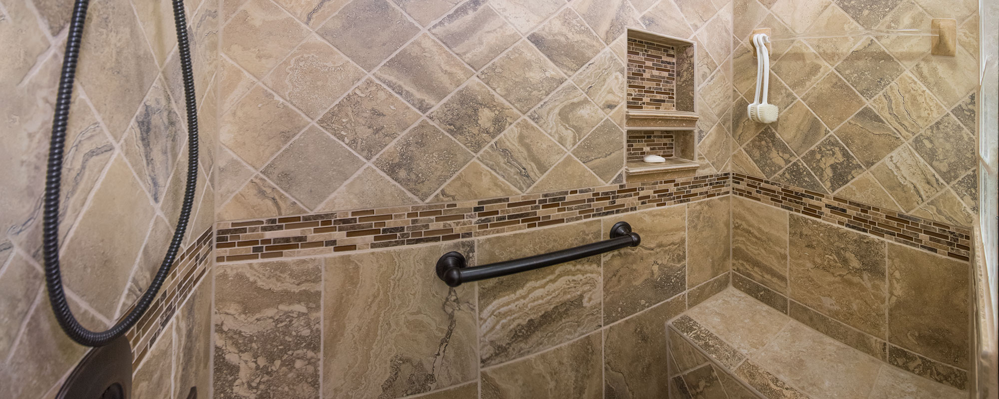 Tile work in shower
